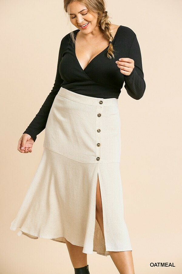 N6621 Side Button Skirt