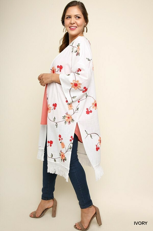 WL5084 Floral Kimono