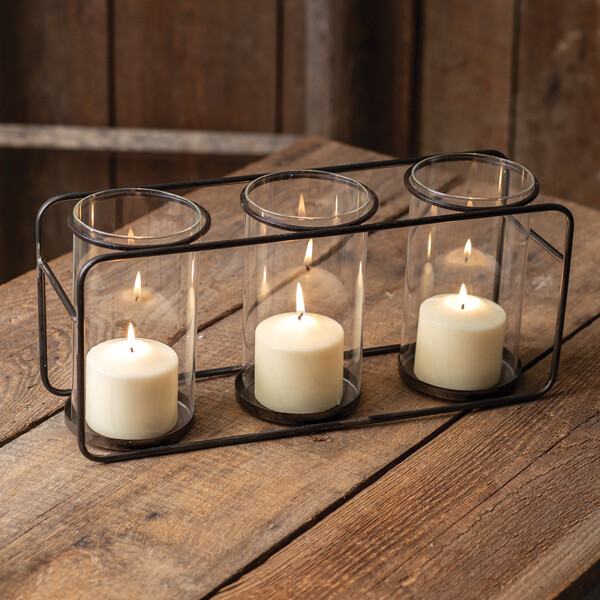CTW - Three Glass Pillar Candle Holder