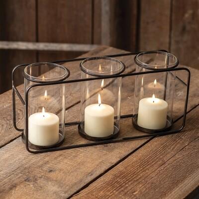 CTW - Three Glass Pillar Candle Holder