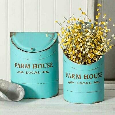 Set  of two Farmhouse Kitchen Bin
