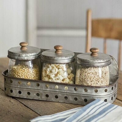 Three Jar Canister Set