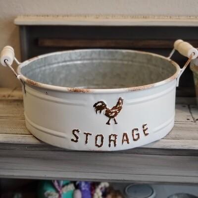 Large Round Storage Bin