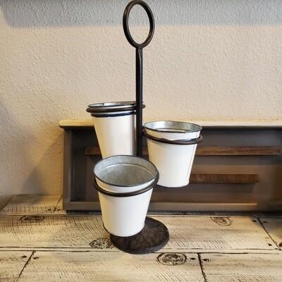 Three Bucket Stand