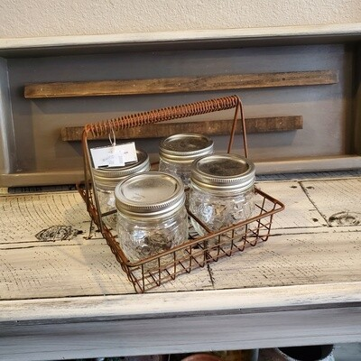 Kitchen Caddy with Jars