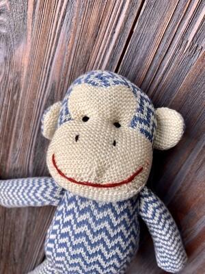 Knit Monkey Plush