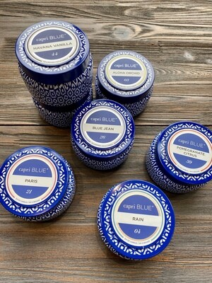 Capri Blue Printed Travel Tin