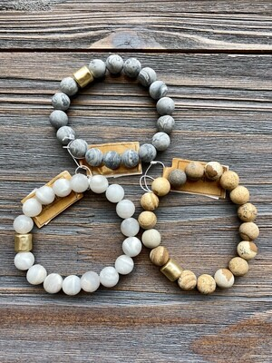 Embelish Stone Larch Stretch Bracelet