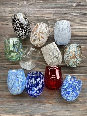 Confetti Stemless Wine Glass