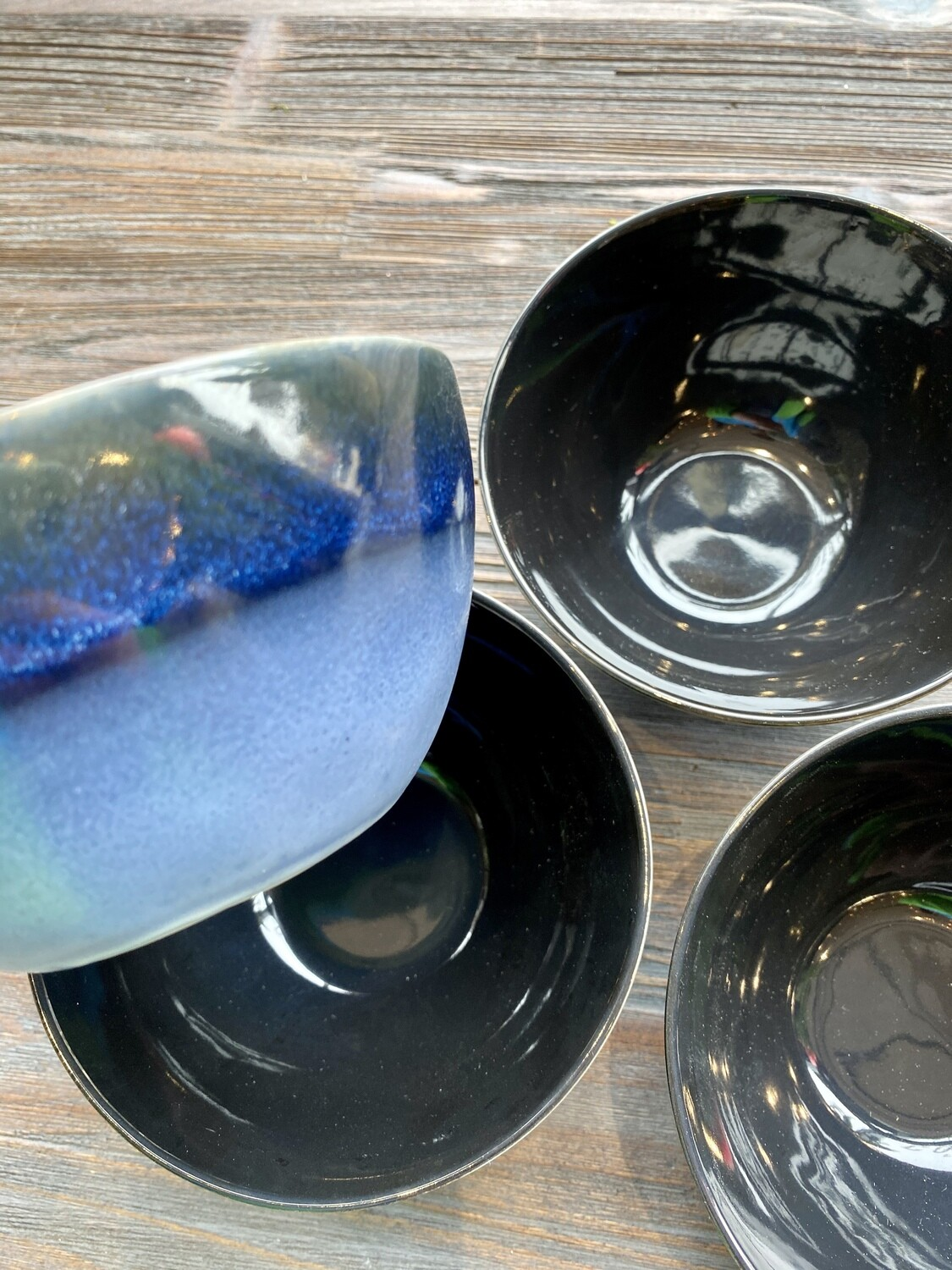 Navy Meridian Reactive Glaze Bowl