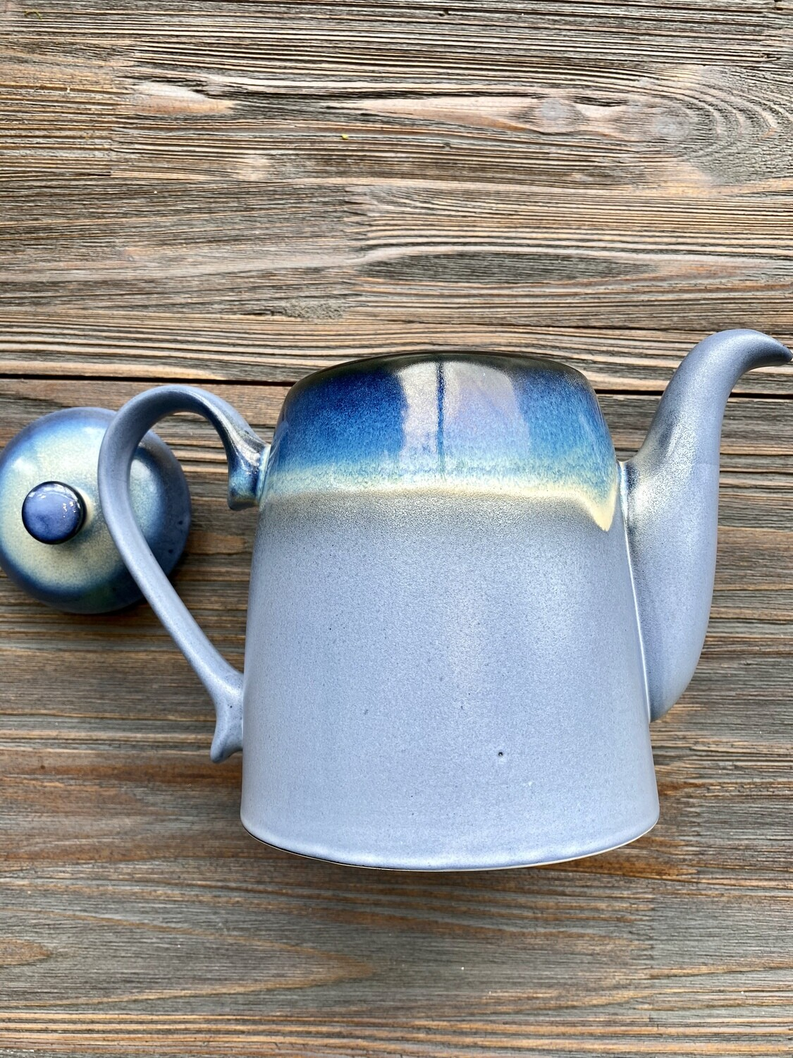 Navy Meridian Reactive Glaze Tea Pot