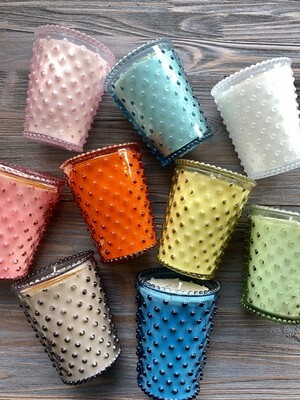 Simpatico Hobnail Glass Candles