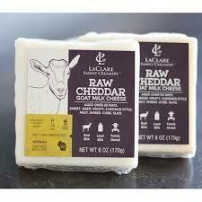 Goat Cheese, Raw Cheddar