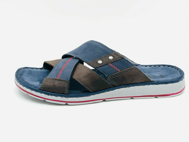 """Pantolette """"Brunello"""", Leder, jeans 55"""