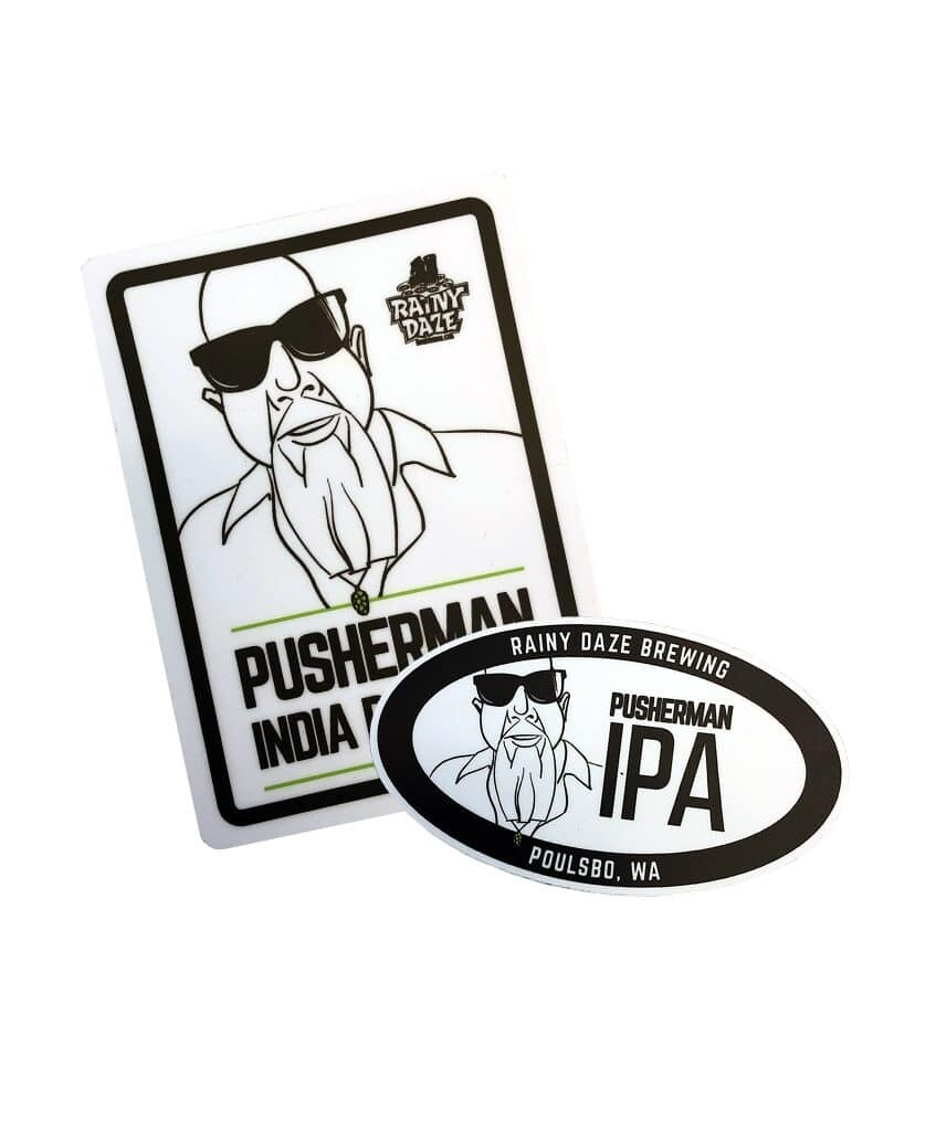 Pusherman Sticker