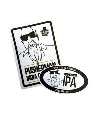 Pusherman Sticker