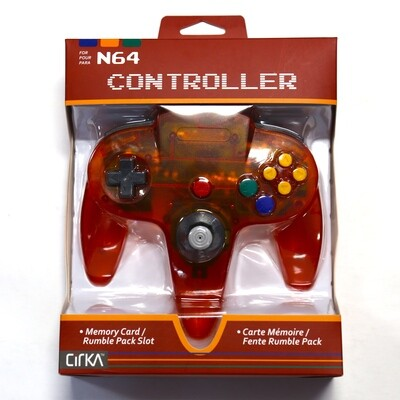 N64 Controller Fire Red NEW