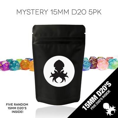 Kraken Mystery Dice Set 15mm d20 5 Pack