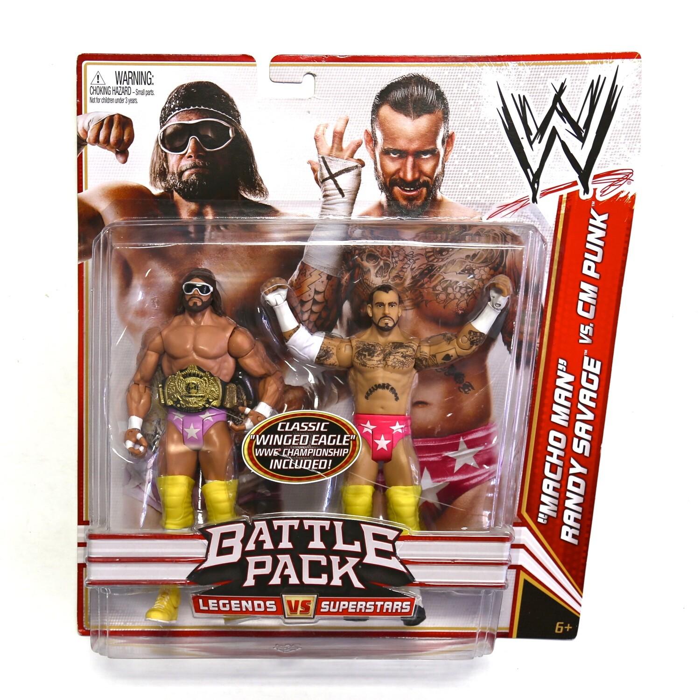 WWE Battle Pack Macho Man Randy Savage vs CM Punk Figures