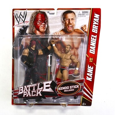 WWE Battle Pack Kane vs. Daniel Bryan Figures