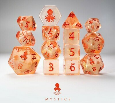 Vermilion 12pc Red Ink Dice Set