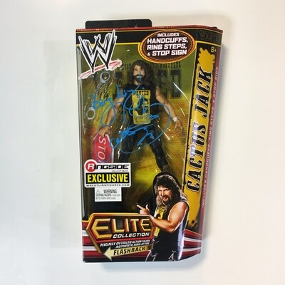 Cactus Jack WWE Elite Collection Ringside Collectibles Exclusive SIGNED