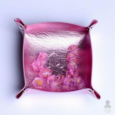 Kraken Skin Dice Tray In Metallic Pink