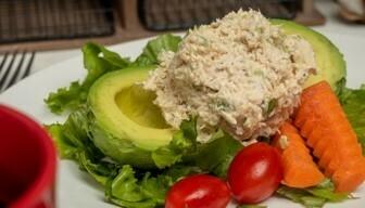 Chicken Salad Stuffed Avocado