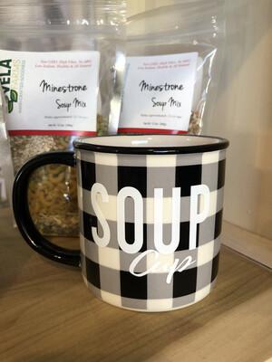 Blk/Wht Soup cup