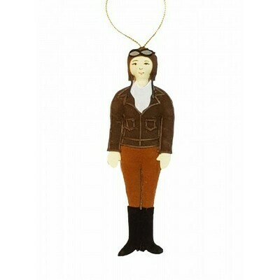 STN Amelia Earhart Felt Ornament