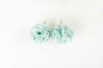 VB Olivia French Wire Fluff Earrings Mint