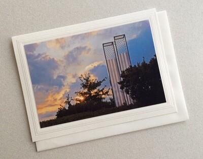 JD Cos Cob Park 911 Memorial Note Card
