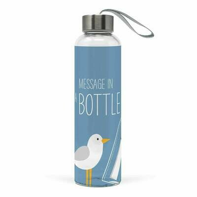 PPD Message in a Bottle Glass Water Bottle