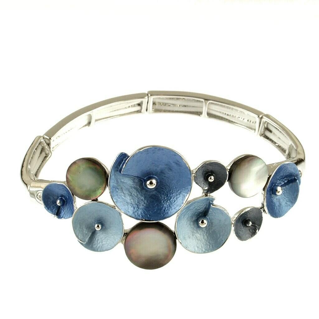 OR Blue Glitter Flower Bracelet