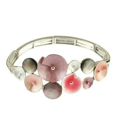 OR Orange & Pink Glitter Flower Bracelet