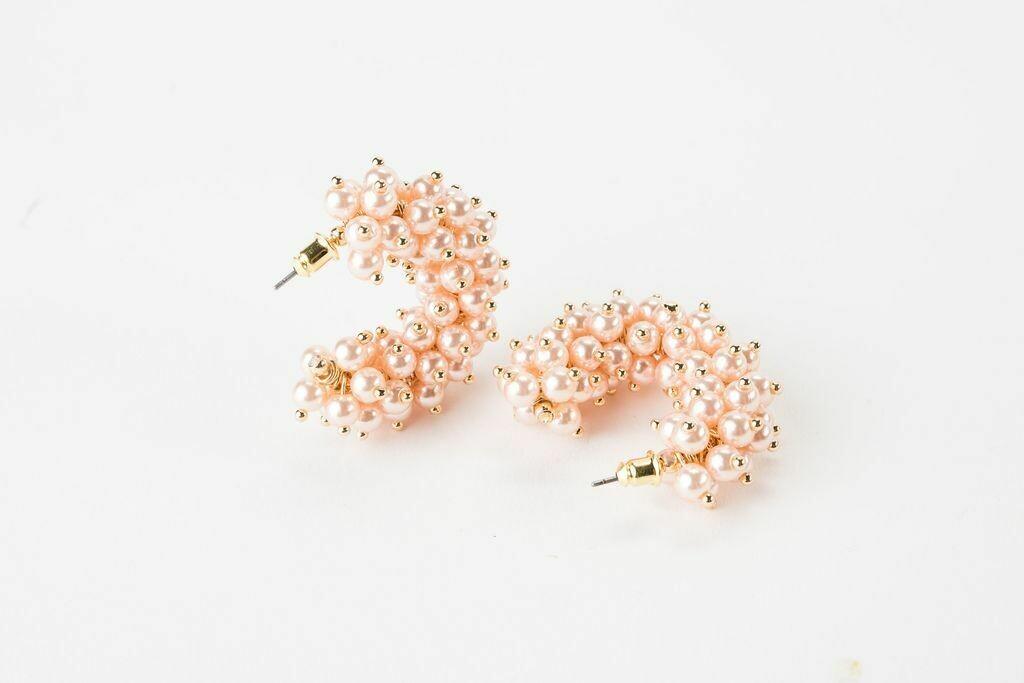 "VB Tallulah 1.25"" Hoop Earrings Blush"