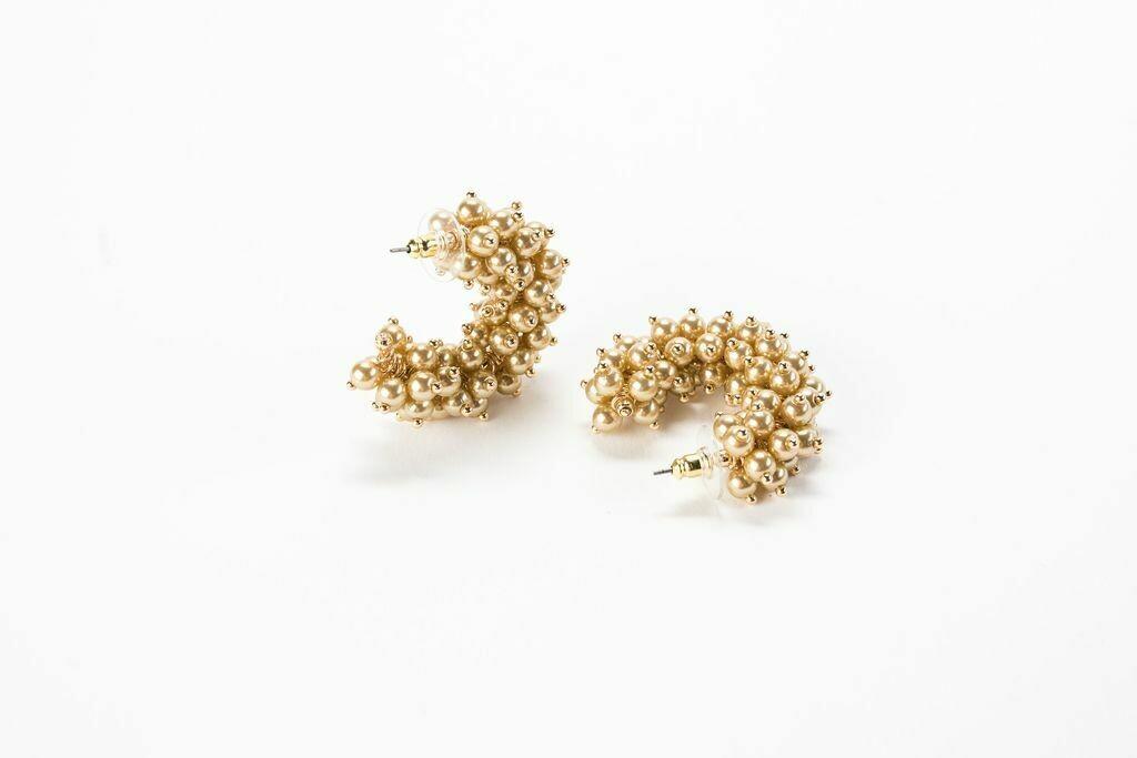 "VB Tallulah 1.25"" Hoop Earrings Honey"