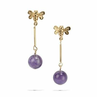 POM Bayley Earrings with Amethyst Drops