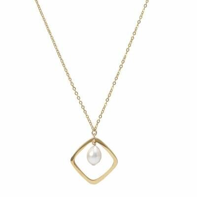 POM Necklace with Baroque Drop Pearl