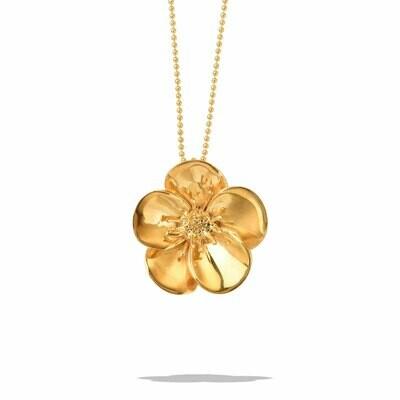 POM Malou Gold Vermeil Flower Necklace