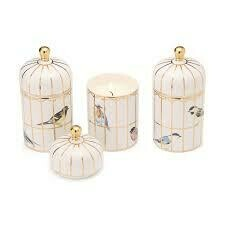 TC Gilded Cage Lidded Filled Candle with Lemon Verbena Scented Wax