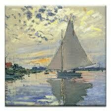 TF Art Inspired Canvas Card Monet Sail