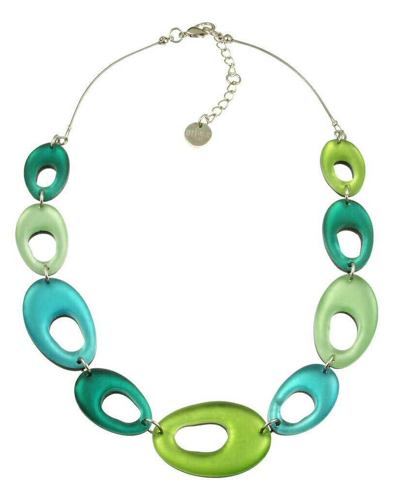 OR Hollow Nuggets Necklace Orchard Combi