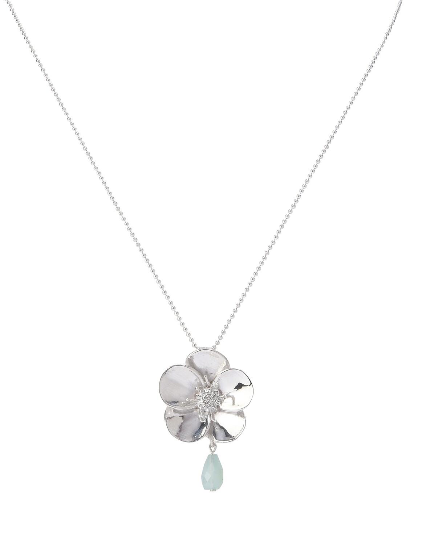 POM Sterling Silver Hellebore Necklace