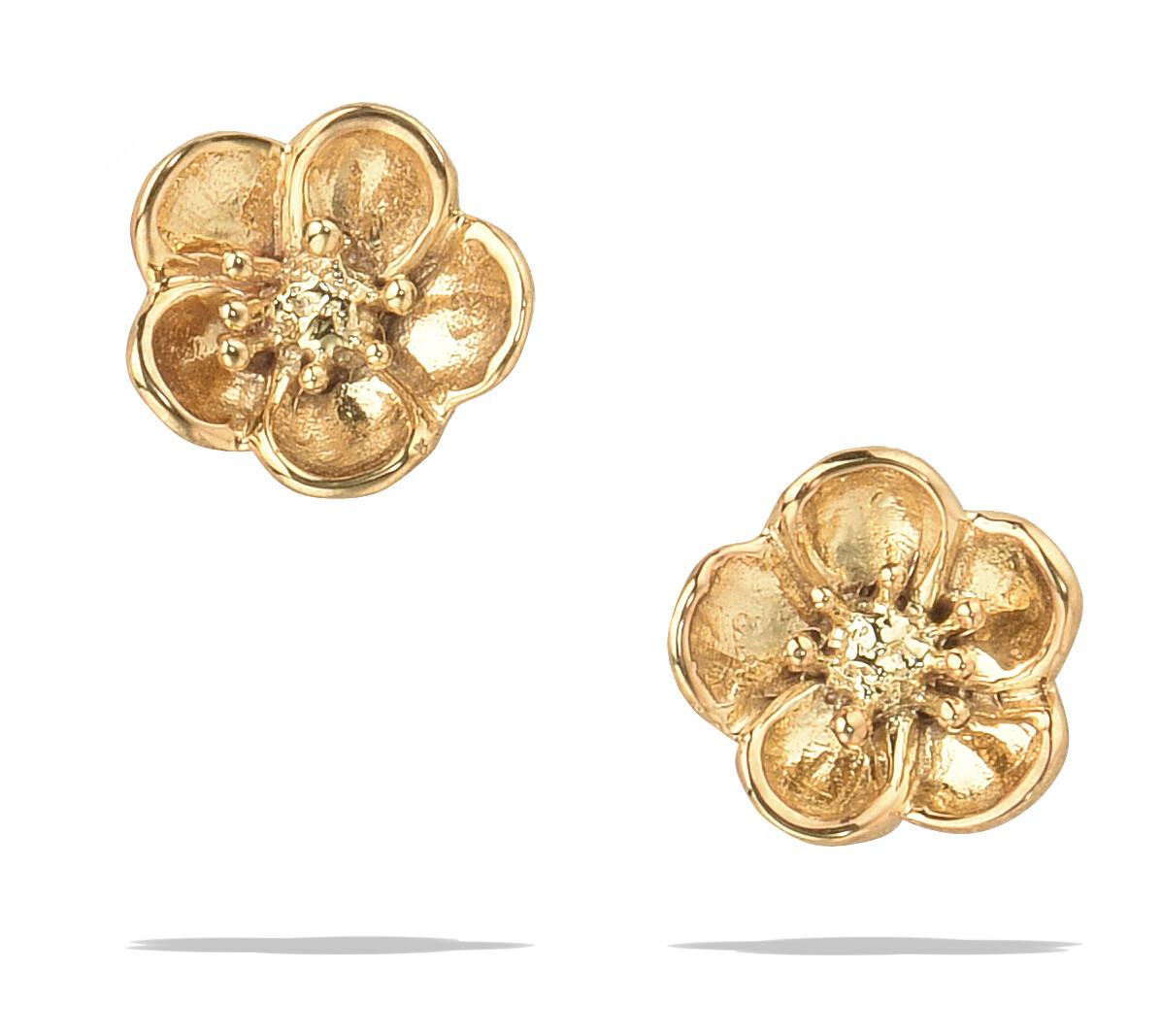 POM Linnea Gold Flower Earrings