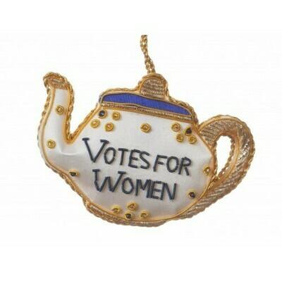 STN Votes for Women Teapot Felt Ornament