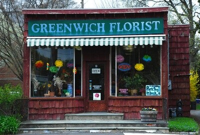 JD Greenwich Florist Note Card