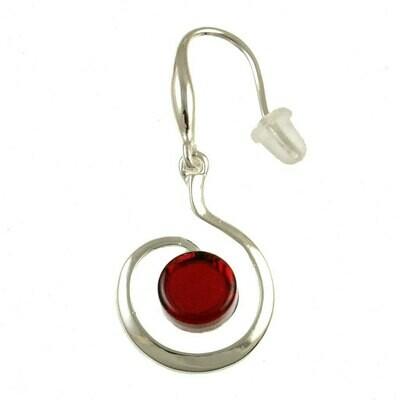 OR Red Swirl Earring