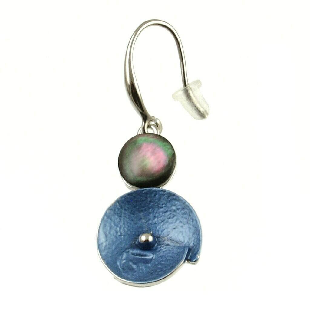 OR Blue Glitter Flower Earring
