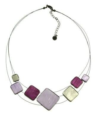 OR Multi Square Purple Necklace